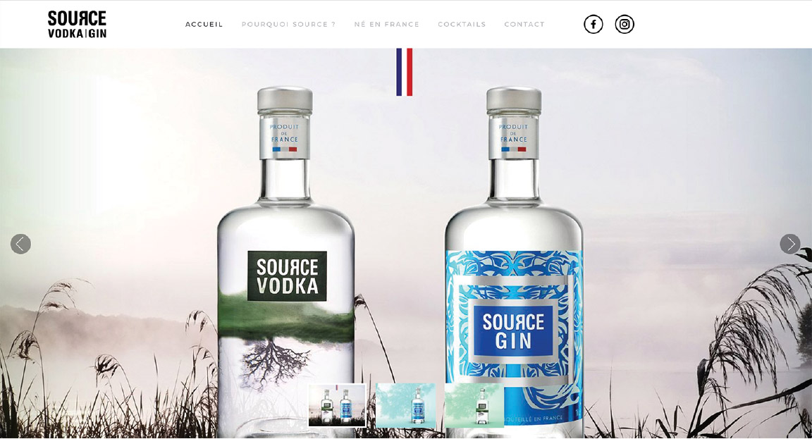 Source Vodka Gin - Vodka et Gin français